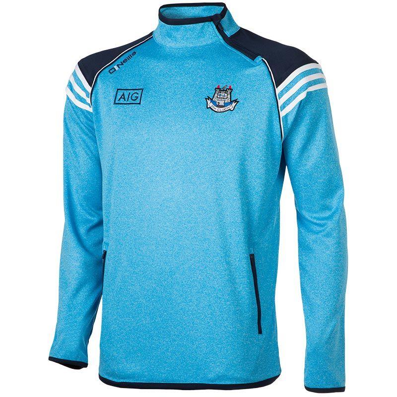 21fac81421ec09 Dublin GAA Abbey 3S Side-Zip Squad Top (Marl Swedish Blue Marine White)  (Kids)