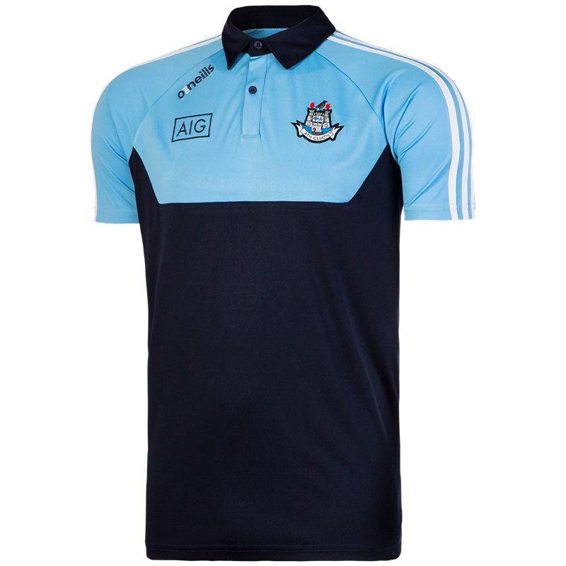 40417cf07f4437 Dublin GAA Kasey 3S Polo Shirt (Marine Sky Marine White)