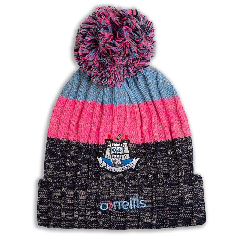 f3cc58b6567 Dublin GAA Malone Bobble Hat (Marl Marine Marl Sky Marl Flo Pink) (Kids)
