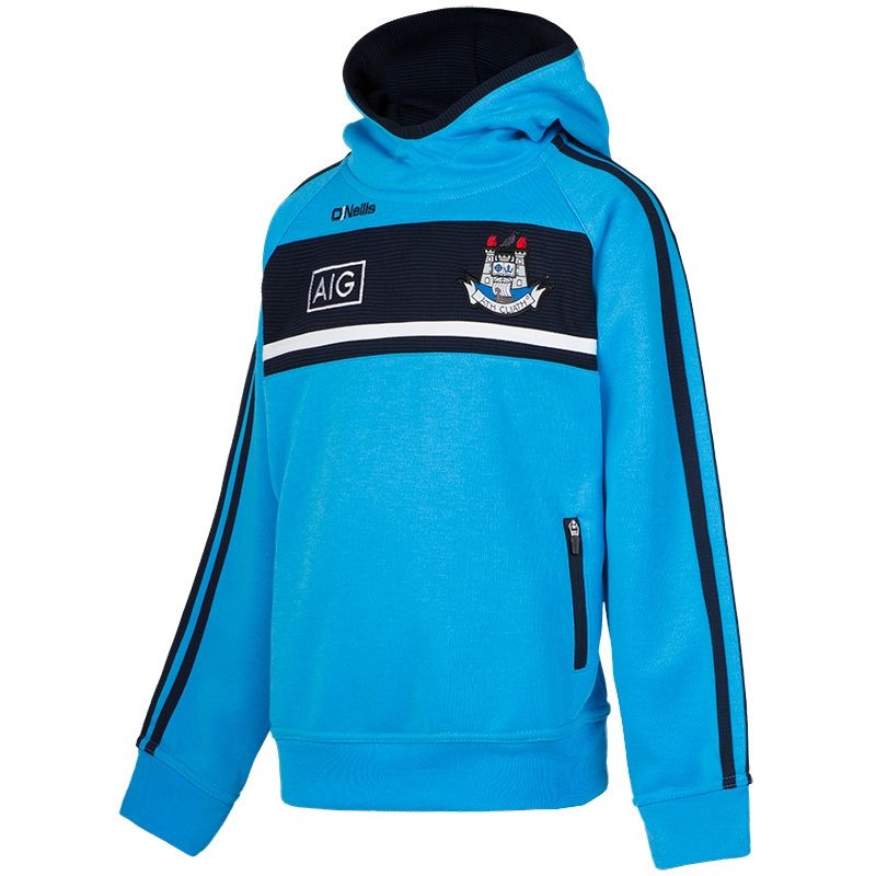 59cdfe4b6 Dublin GAA Temple 3S Overhead Fleece Hoody (Swedish Blue/Marine/White)  (Kids) | oneills.com