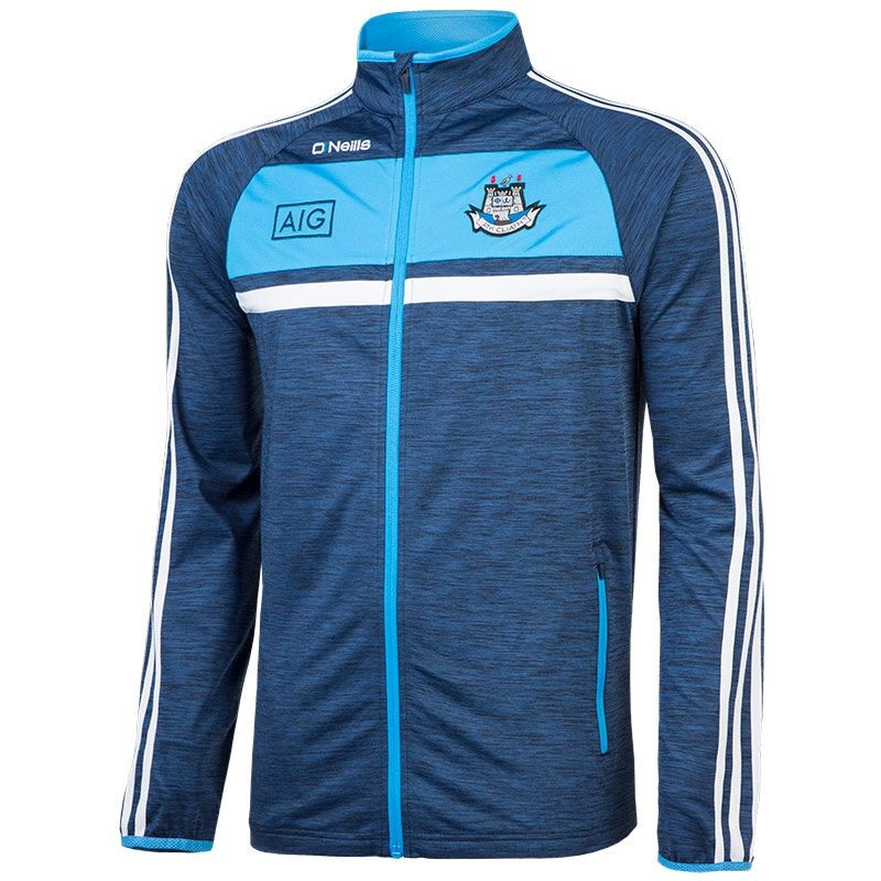 Dublin GAA Temple 3S Brushed Full-Zip Top (Melange Marine ...