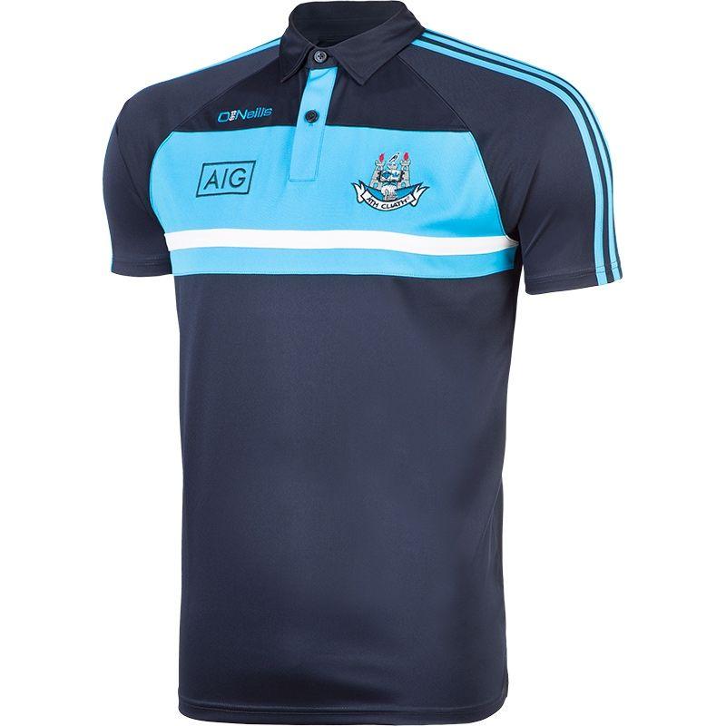 Dublin GAA Temple 3S Polo Shirt (Marine/Ripple Swedish