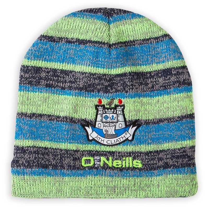 7655feab737b4 Dublin GAA Temple Beanie Fleece Lined Hat (Marine Neon Lime Swedish Blue)