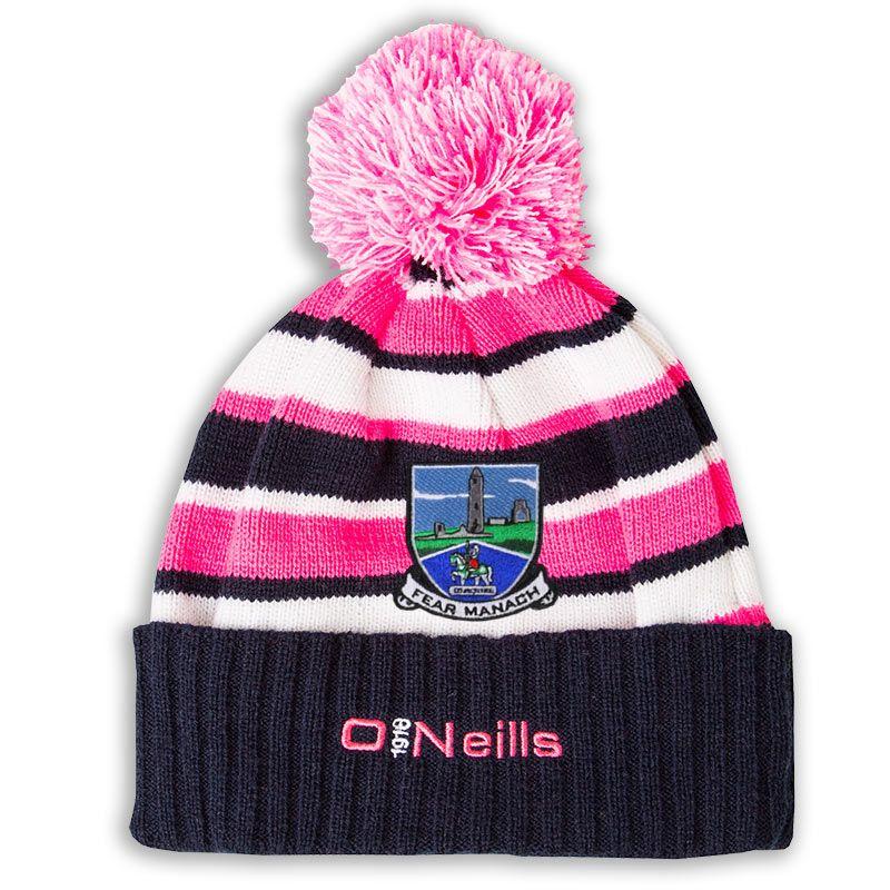 Fermanagh GAA Beacon Bobble Hat (Marine Flo Pink White)  d43502e9a54
