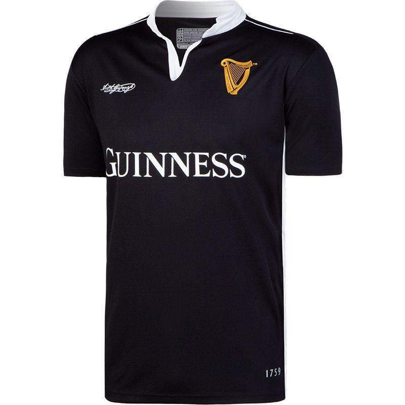 4dab63ea64e Guinness Performance Short Sleeve Rugby Jersey (Black) | oneills.com - AUS