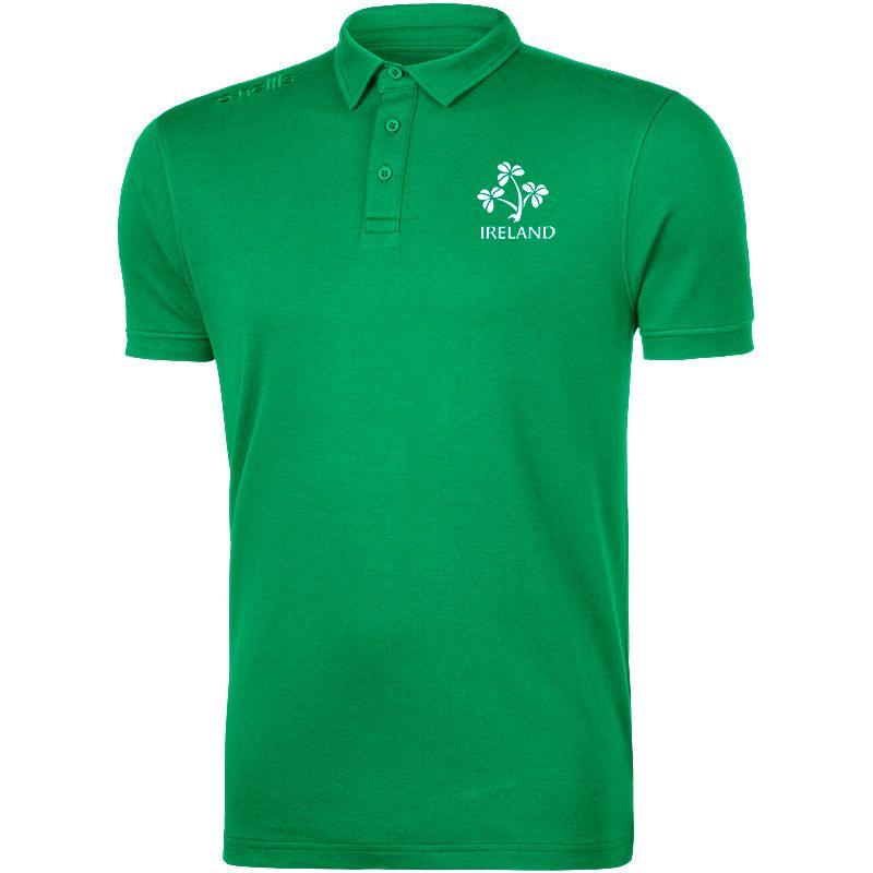 b91cc1af O'Neills Ireland Rugby Men's Mercury Polo Shirt Green   oneills.com
