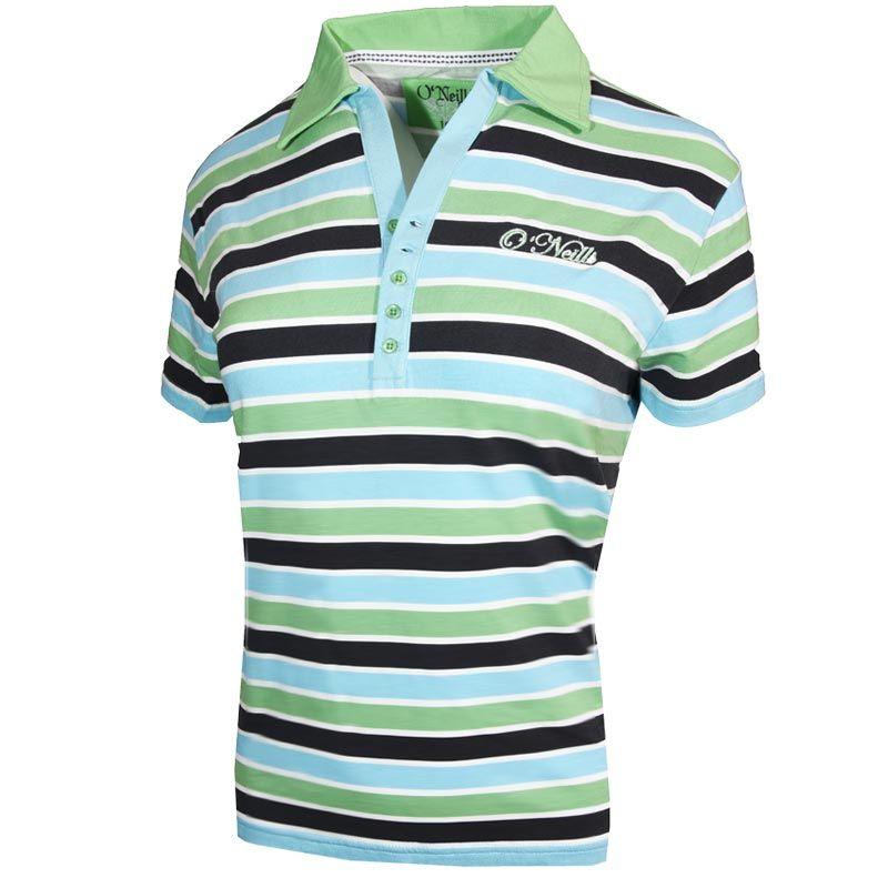 b8a46d6556337 Jade 2 Polo Shirt (Green Striped) | oneills.com