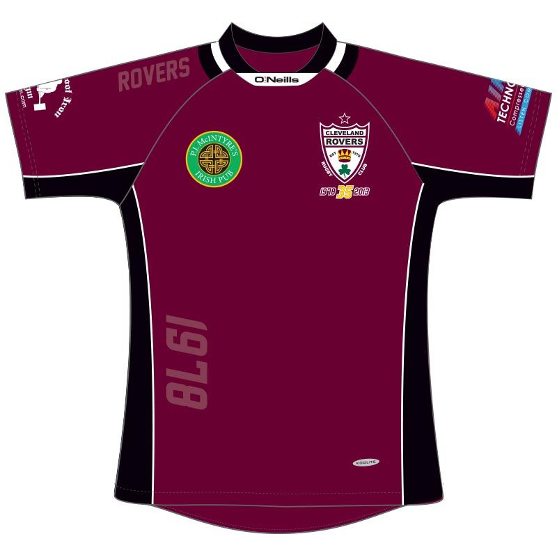 separation shoes a4f60 895ab Cleveland Rovers RFC Rugby Jersey (Maroon)