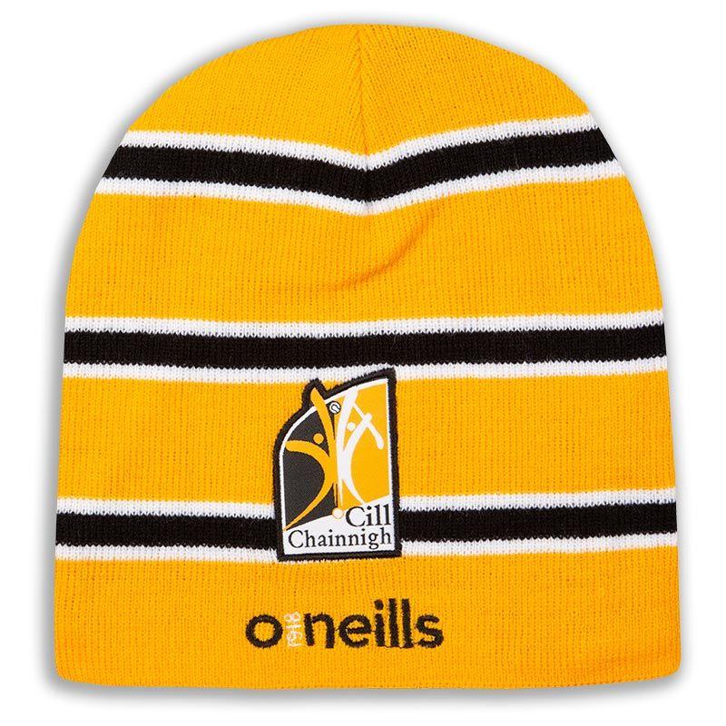 074684ed71ed8c Kilkenny GAA Solar Beanie Hat (Amber/White/Black) (Kids)   oneills.com