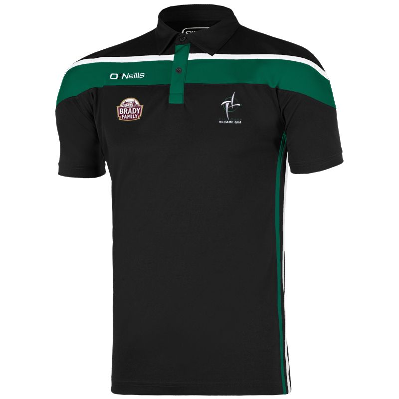 Kildare GAA Slaney 2S Polo Shirt (Black/Bottle/White