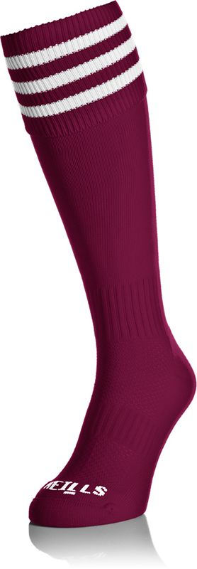 Premium Socks Bars (Maroon/White) (Kids)