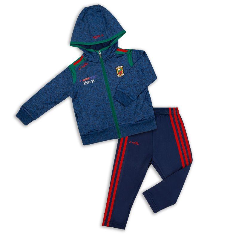 952f185197d3 Mayo GAA Solar 3S Brushed Infant Fleece Suit (Mel Marine Bottle Red ...