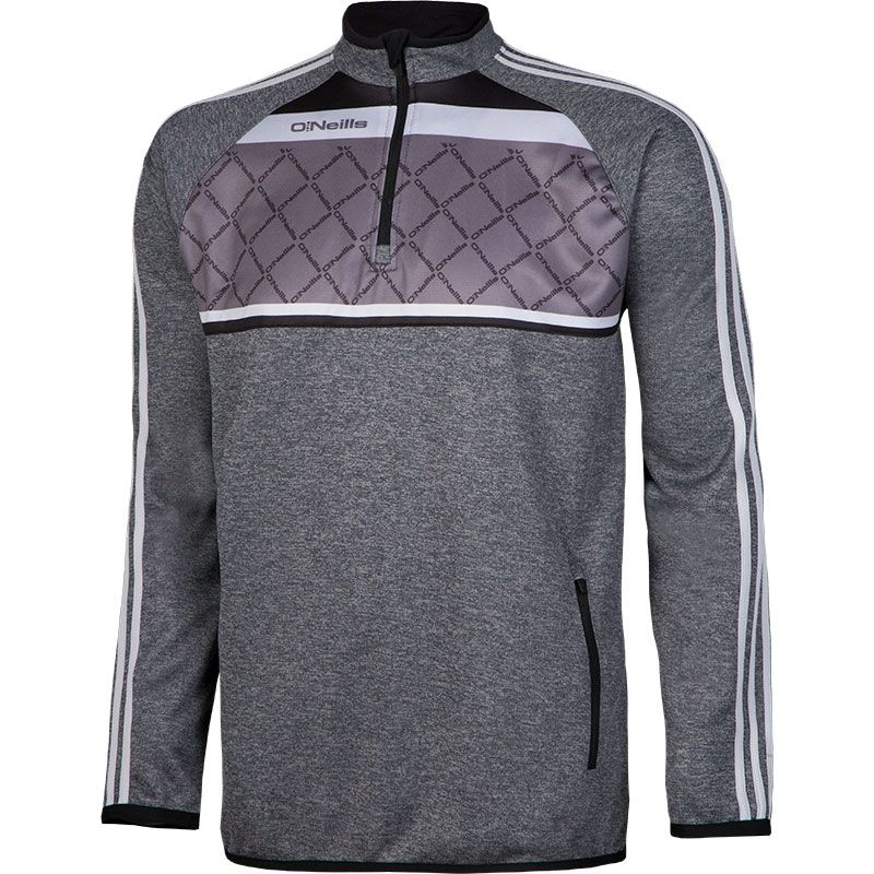 da253dfe71cb86 Merrion 3S Sublimated Half Zip (Marl Grey Black Silver)