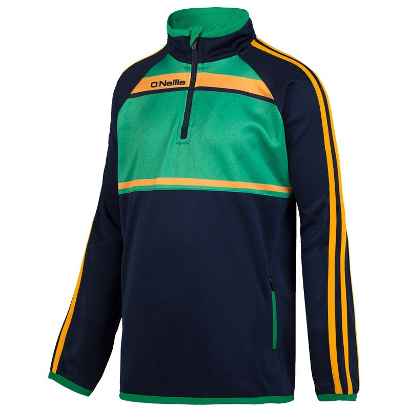 a9f9310ebb0776 Merrion 3S Sublimated Half Zip (Marine Emerald Amber) (Kids ...