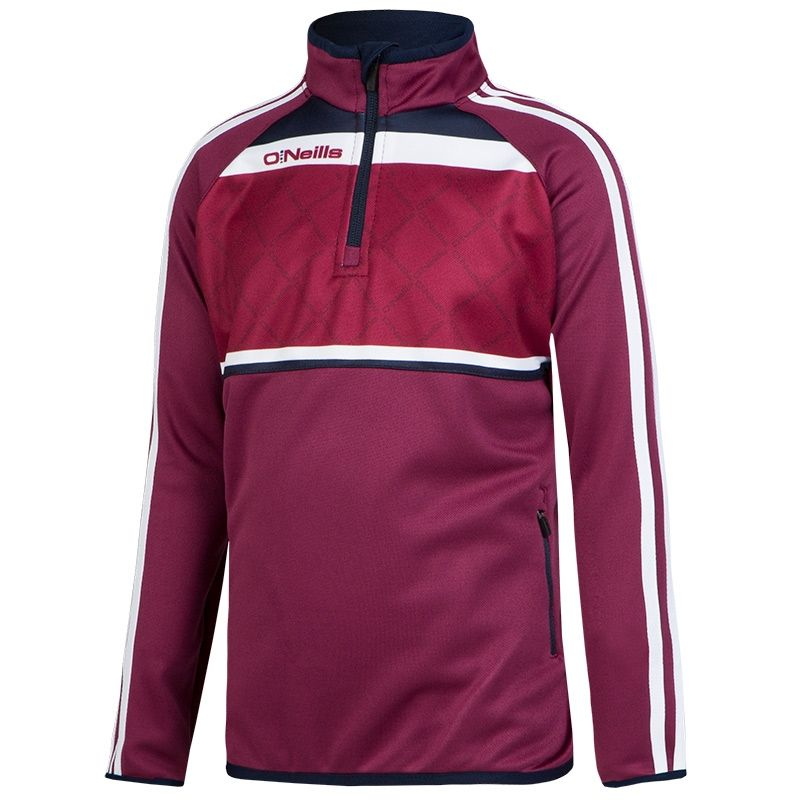 f06f4344337861 Merrion 3S Sublimated Half Zip (Maroon Marine White) (Kids ...