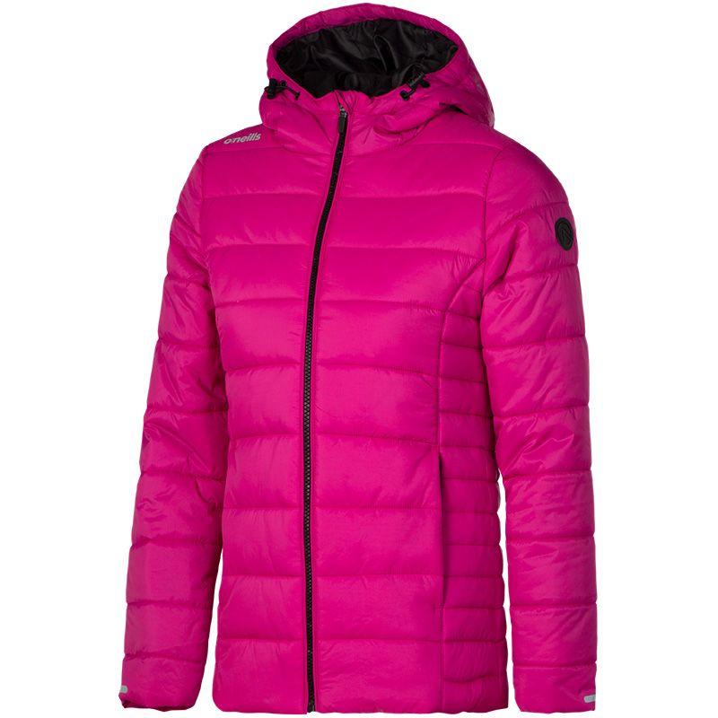 9045ac5f8 Monroe Girls Hooded Padded Jacket (Very Berry Black)