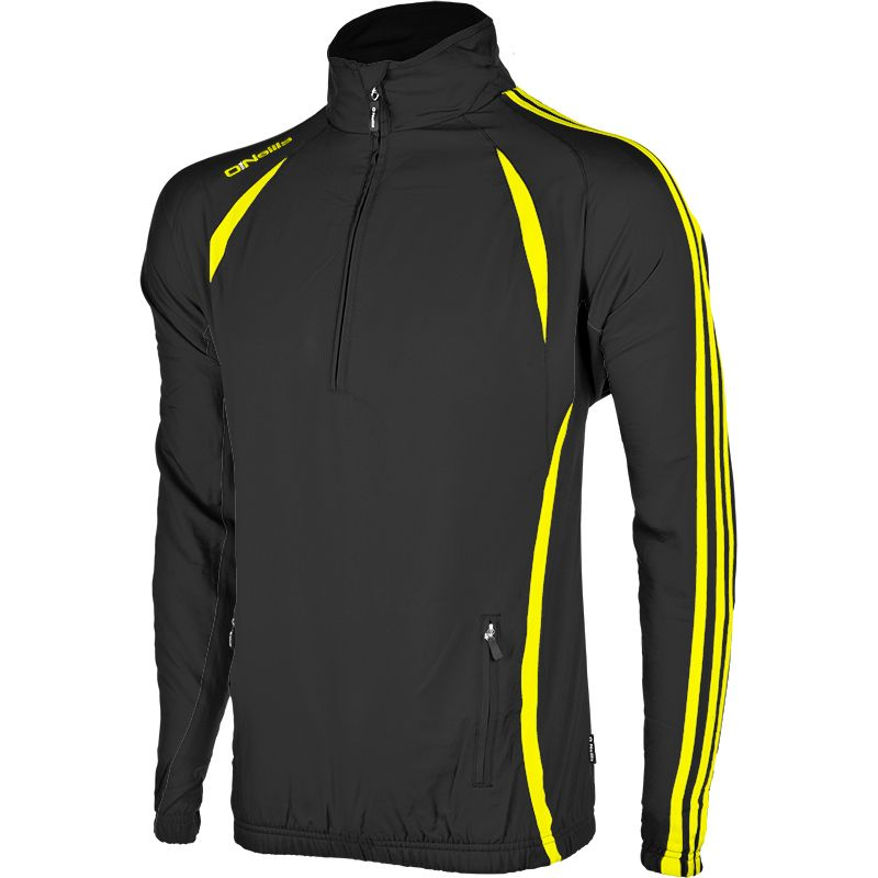 150200be8 Ria H-Zip Track Top (Black Flo Yellow)