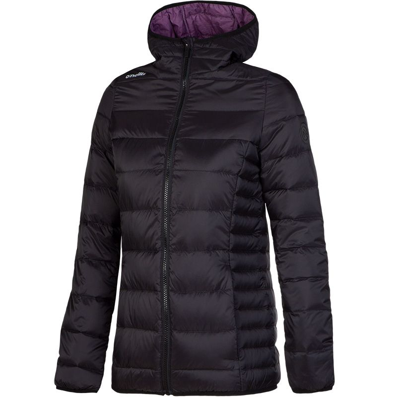 2cdcefdab0b6 Willoughby Womens Down Filled Hooded Jacket (Black Marl Winberry ...