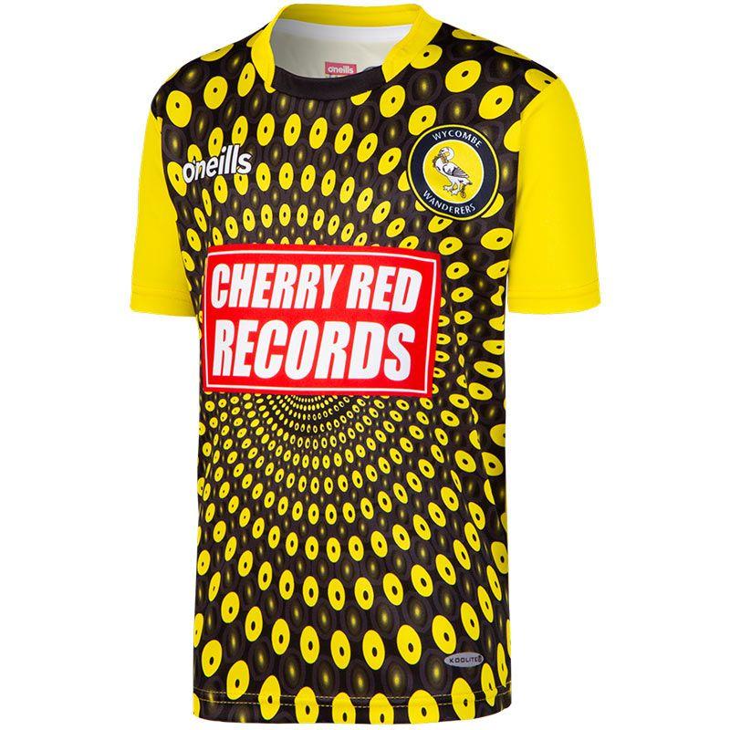 50d4d7de2 Wycombe Wanderers FC Replica Goalkeeper Short Sleeve Shirt 2018 19 (Kids)  (Black Yellow)