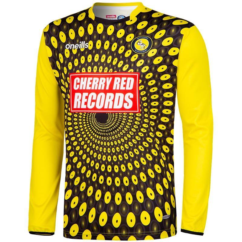 e0e794a2b24 Wycombe Wanderers FC Replica Goalkeeper Shirt 2018/19 (Kids) (Black/Yellow)  | oneills.com - US