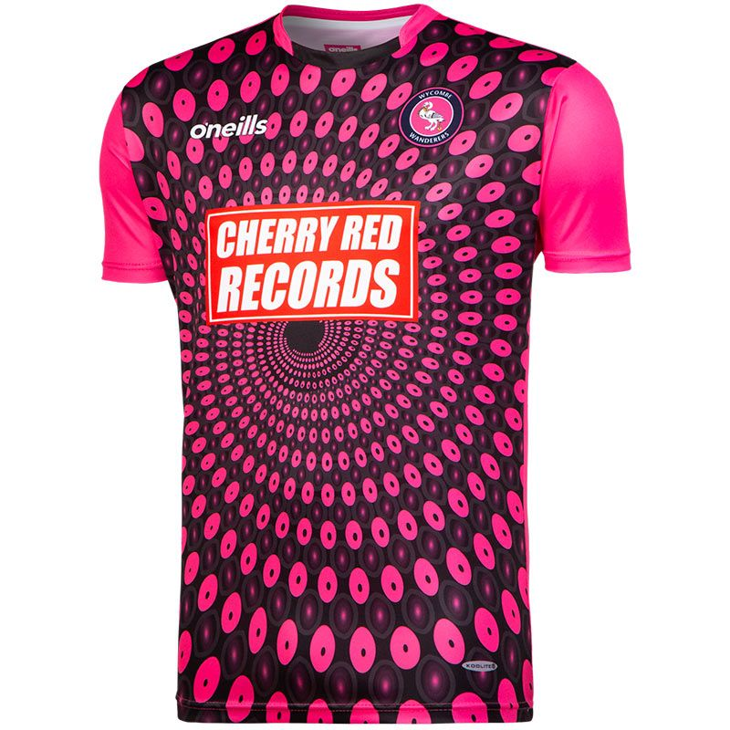 18149981e Wycombe Wanderers FC Replica Goalkeeper Short Sleeve Shirt 2018 19  (Black Pink)
