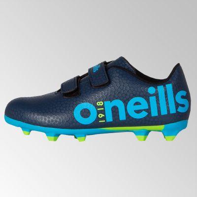 fec4ea11463 Apollo 2 Velcro Football Boot (Marine Swedish Blue Neon Lime) (Child