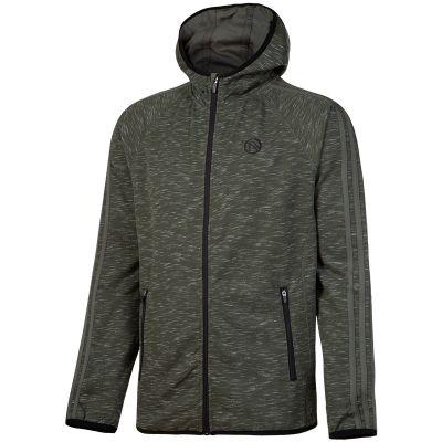 826e5a00770e Bari 3S Full Zip Fleece Hooded Top (Fleck Khaki Khaki Black)