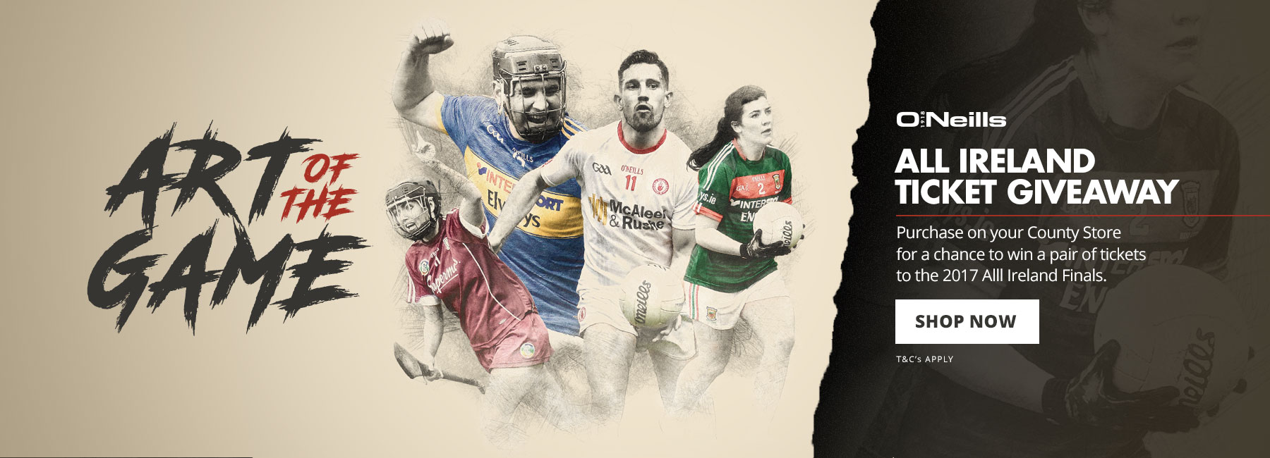 O'Neills All Ireland Ticket Giveaway