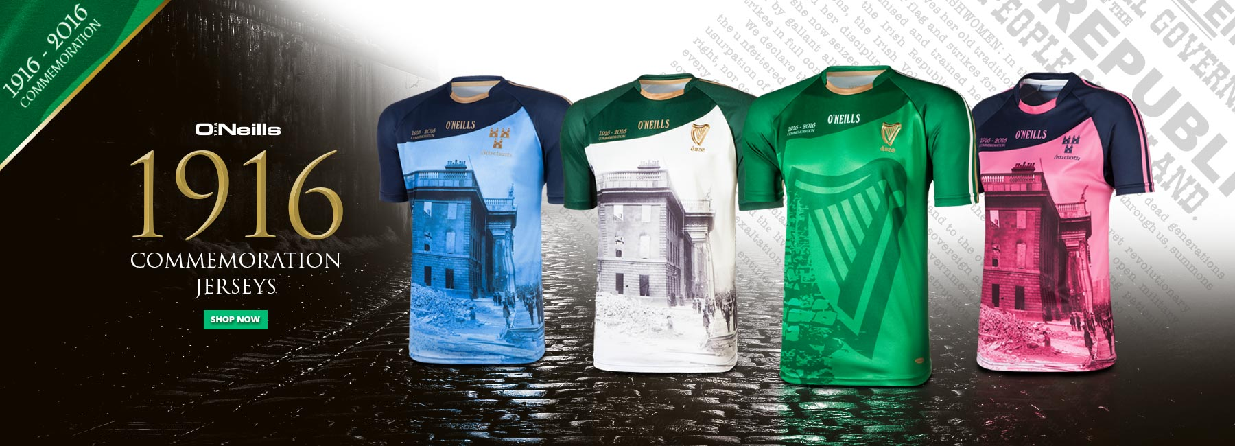 1916 Commemoration Jerseys