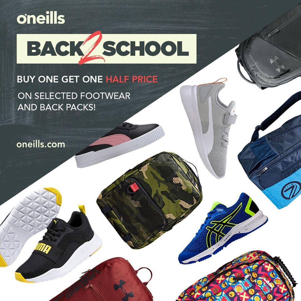Stock up at O'Neills Back2School one stop shop
