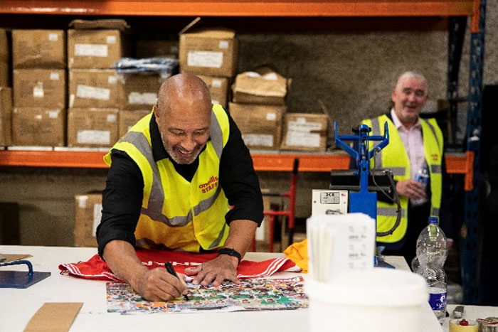 Paul McGrath Visits O'Neills Dublin Headquarters